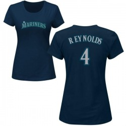 Women's Harold Reynolds Seattle Mariners Roster Name & Number T-Shirt - Navy