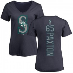 Women's James Paxton Seattle Mariners Backer Slim Fit T-Shirt - Navy