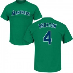 Youth Keon Broxton Seattle Mariners Roster Name & Number T-Shirt - Green