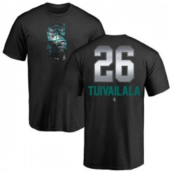 Youth Sam Tuivailala Seattle Mariners Midnight Mascot T-Shirt - Black