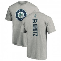 Youth Zac Grotz Seattle Mariners Backer T-Shirt - Ash